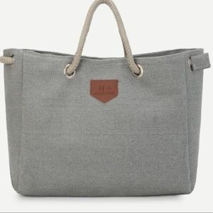 Handbags - COMING SOON Rope Handle Canvas Tote Bag